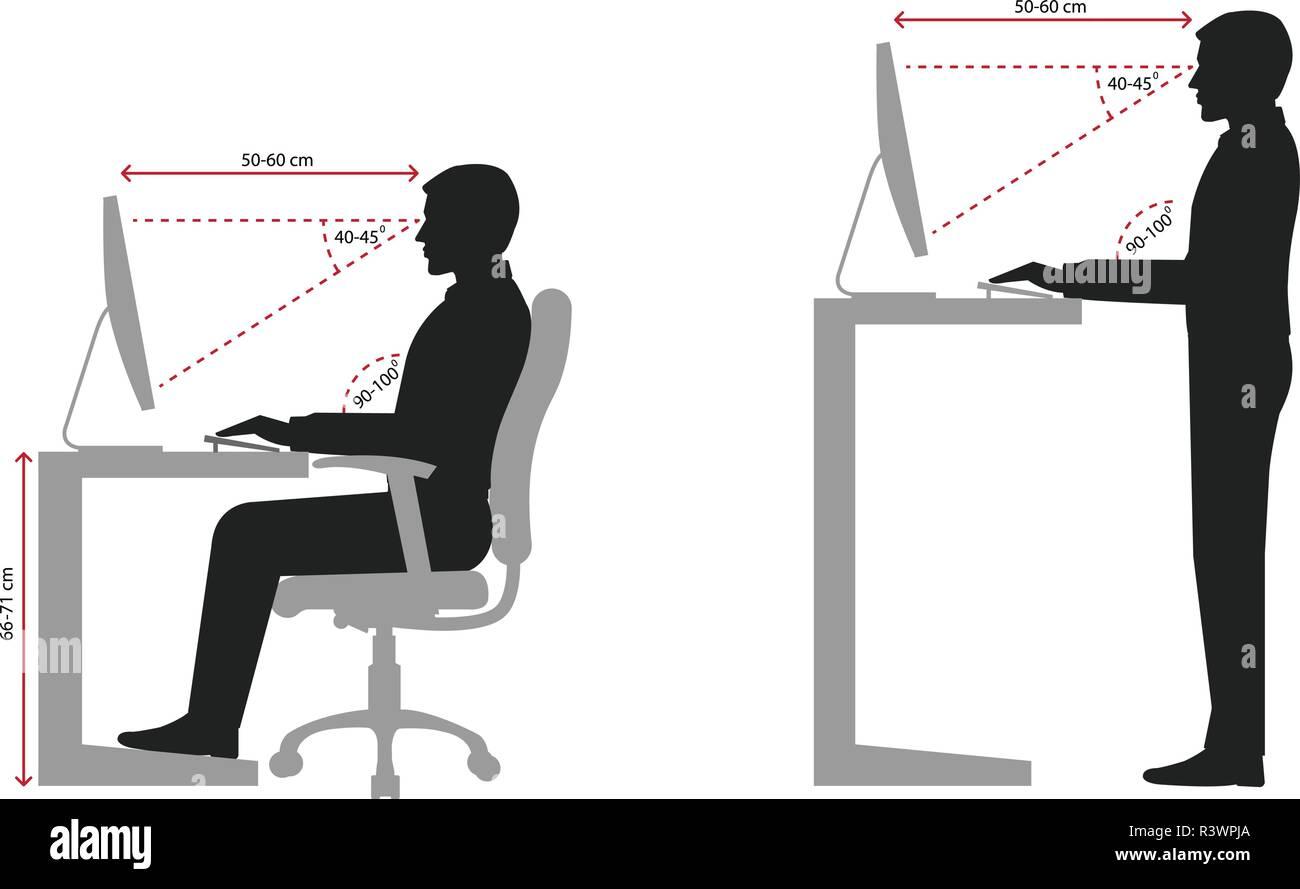 Sitzposition Büro Arbeitsplatz Ergo Nomie Officeline Höganäs Eco