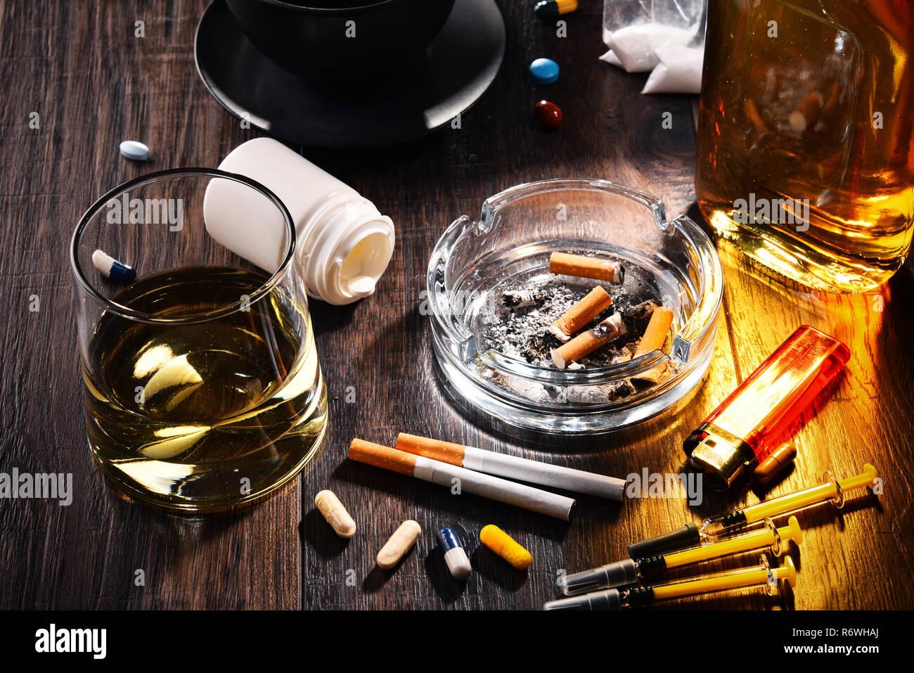 Süchtig machenden Substanzen einschließlich Alkohol ...