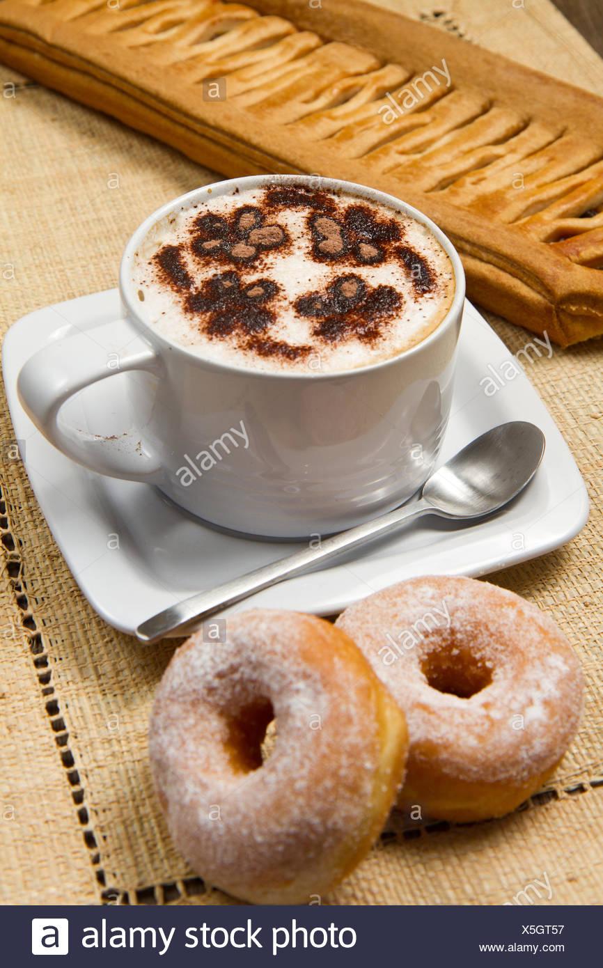 Caf Tasse Getrnke Holz Schaumstoff Zucker Milch
