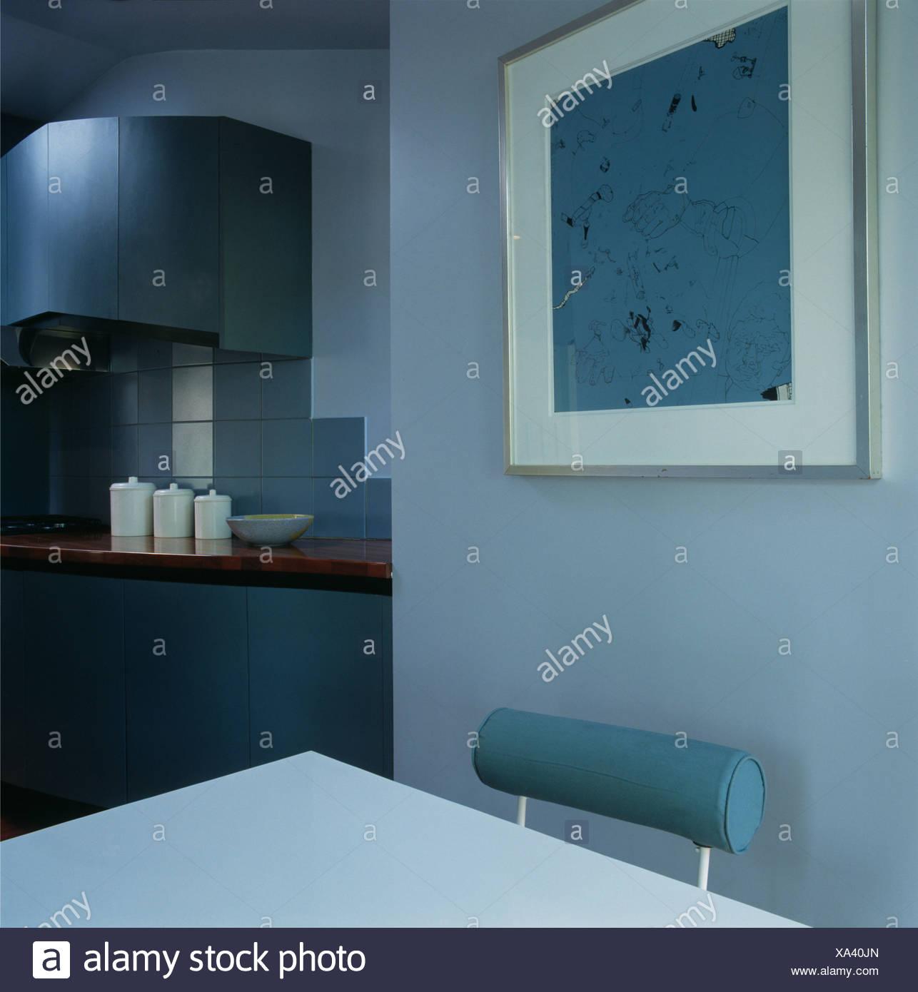Kuche Blaue Wand Fliesen Kuche Wand Ka 1 4 Che Worldegeek Mit W