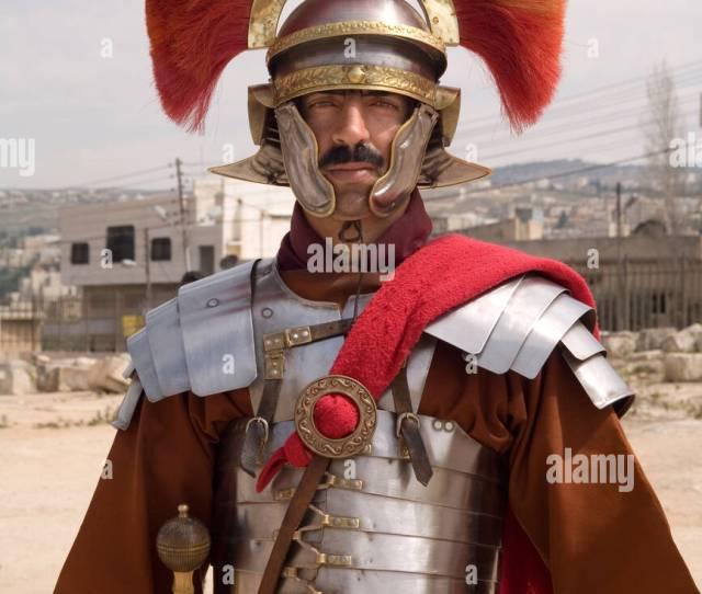 Jordania Jerash Centurion Romano En Rec Historica Promulgacion