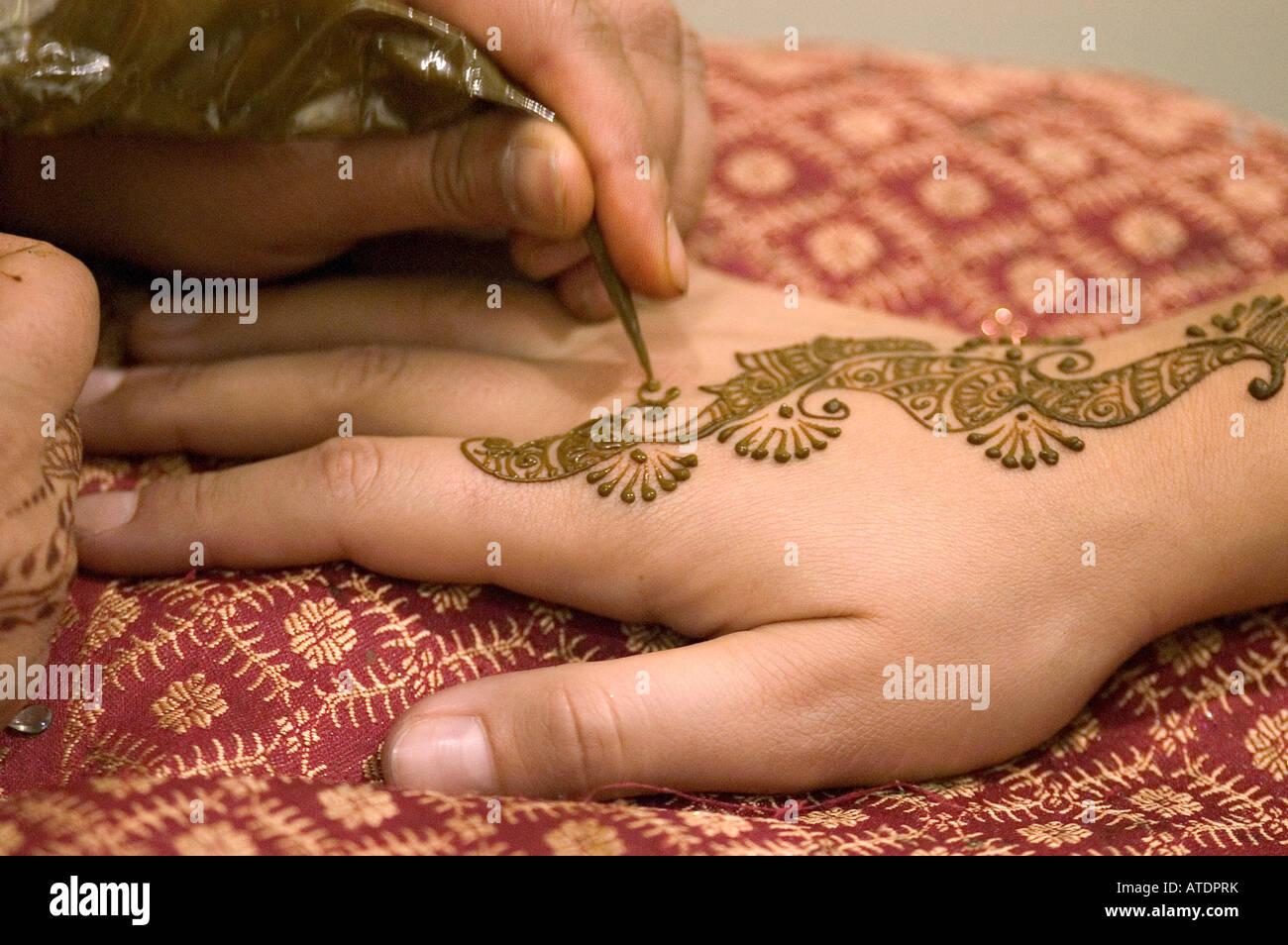 Tatuaje De Henna Body Art Detalle Mano Mujer Cultura Cultura Típica
