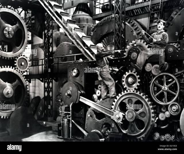 El Moderne Zeiten Tiempos Modernos De Charles Chaplin En Seinem Geraet Trabajo Charlie Charles Chaplin