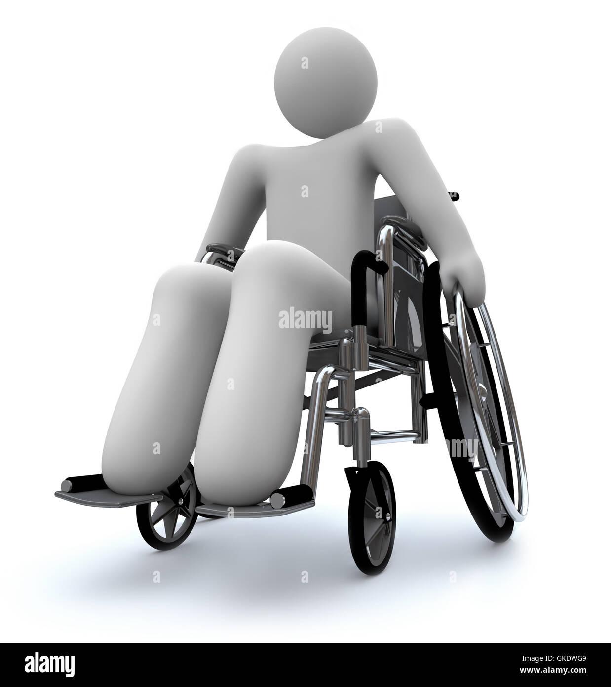 Persona en silla de ruedas Foto  Imagen De Stock