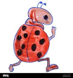 dibujo acuarela kids cartoon ladybug sobre un fondo blanco imagen de stock [ 1300 x 1390 Pixel ]