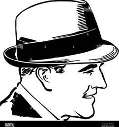 1950 chico con sombrero retro ilustraci n clipart [ 1260 x 1390 Pixel ]