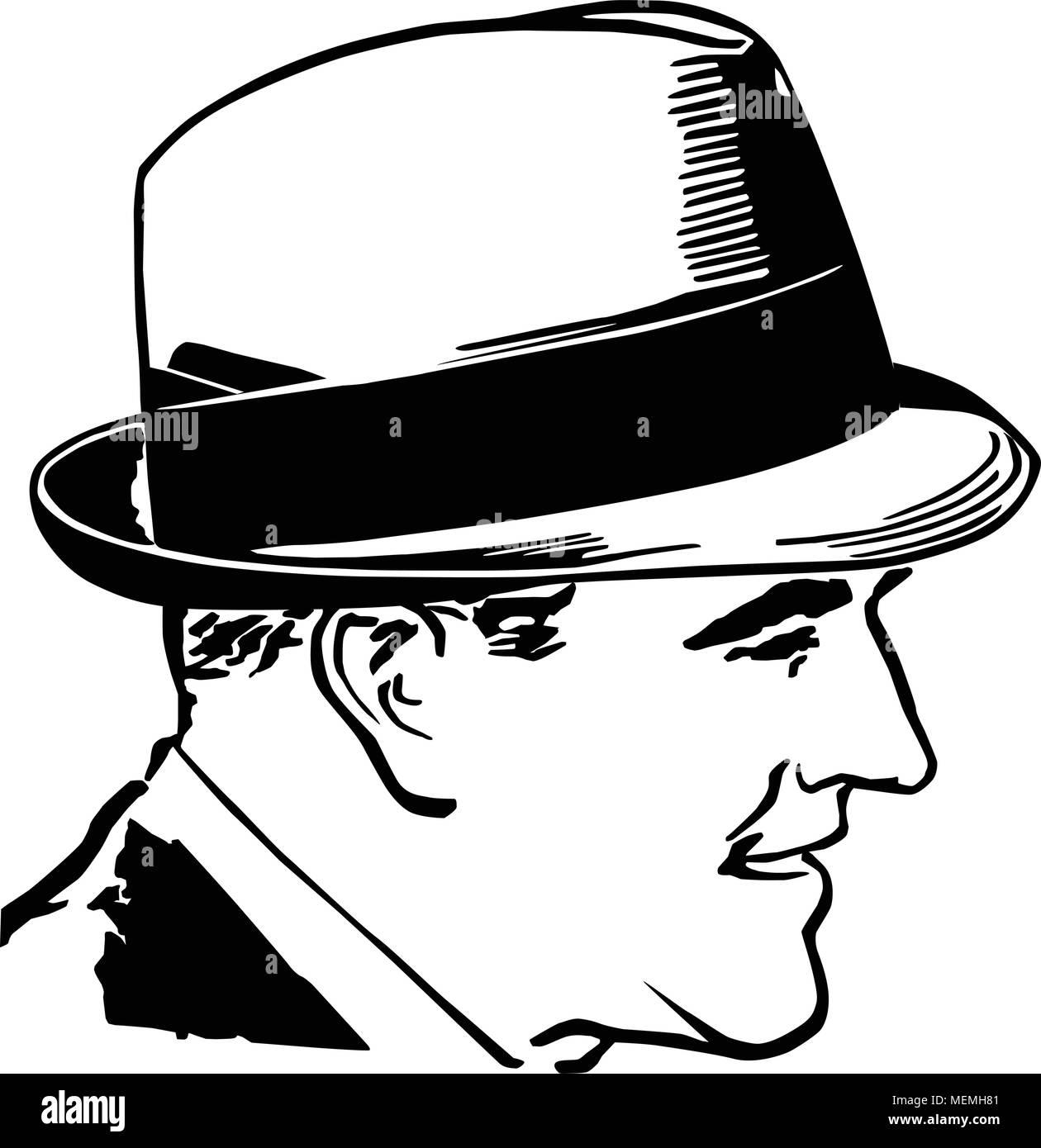 hight resolution of 1950 chico con sombrero retro ilustraci n clipart