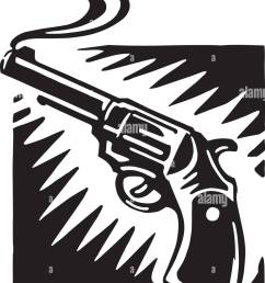 smoking gun retro ilustraci n clipart [ 978 x 1390 Pixel ]
