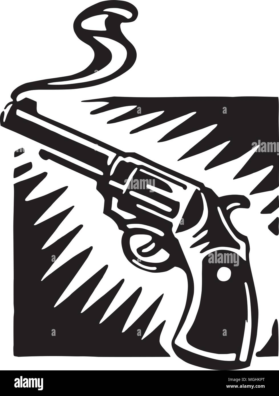 hight resolution of smoking gun retro ilustraci n clipart