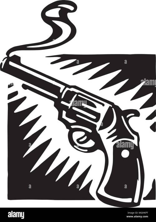 small resolution of smoking gun retro ilustraci n clipart