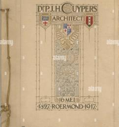 nederlands receptieboek verjaardag bij cuypers 90e 1917 papier karton inkt  [ 995 x 1390 Pixel ]