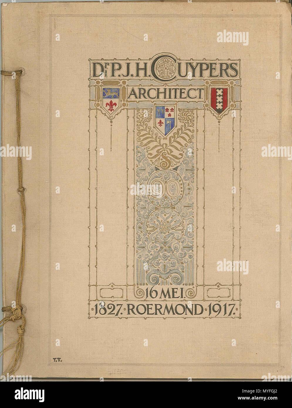 hight resolution of nederlands receptieboek verjaardag bij cuypers 90e 1917 papier karton inkt
