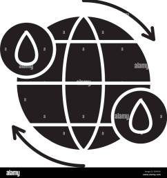 ciclo del agua icono negro signo de vectores de fondo aislados concepto de ciclo [ 1289 x 1390 Pixel ]