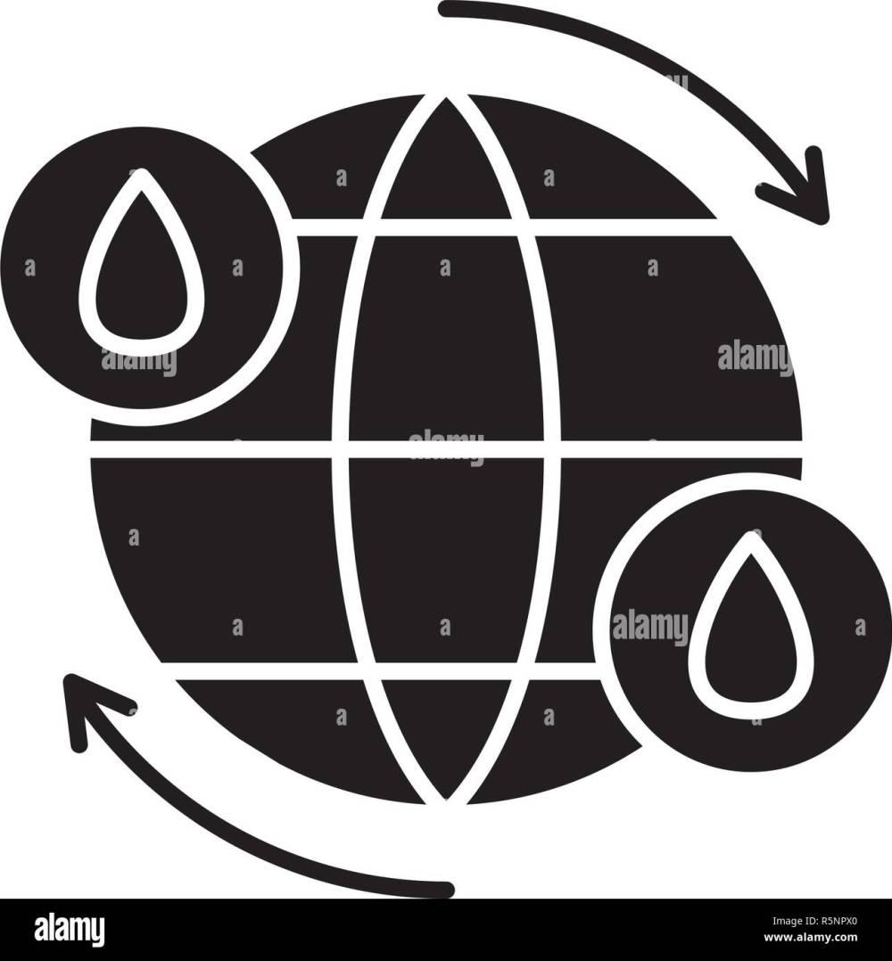 medium resolution of ciclo del agua icono negro signo de vectores de fondo aislados concepto de ciclo
