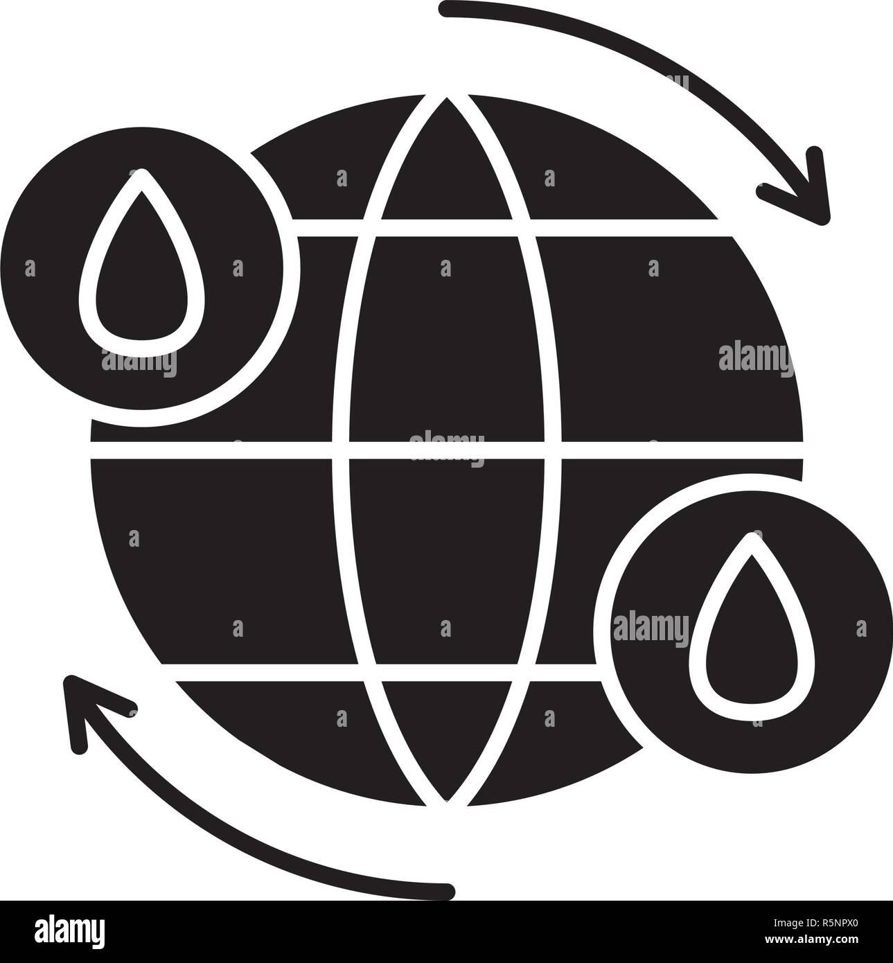 hight resolution of ciclo del agua icono negro signo de vectores de fondo aislados concepto de ciclo