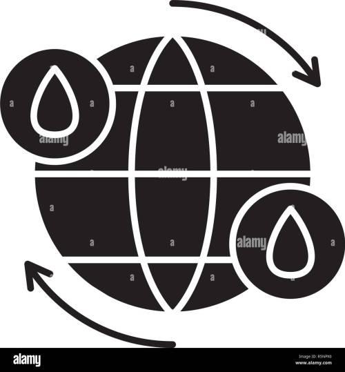 small resolution of ciclo del agua icono negro signo de vectores de fondo aislados concepto de ciclo