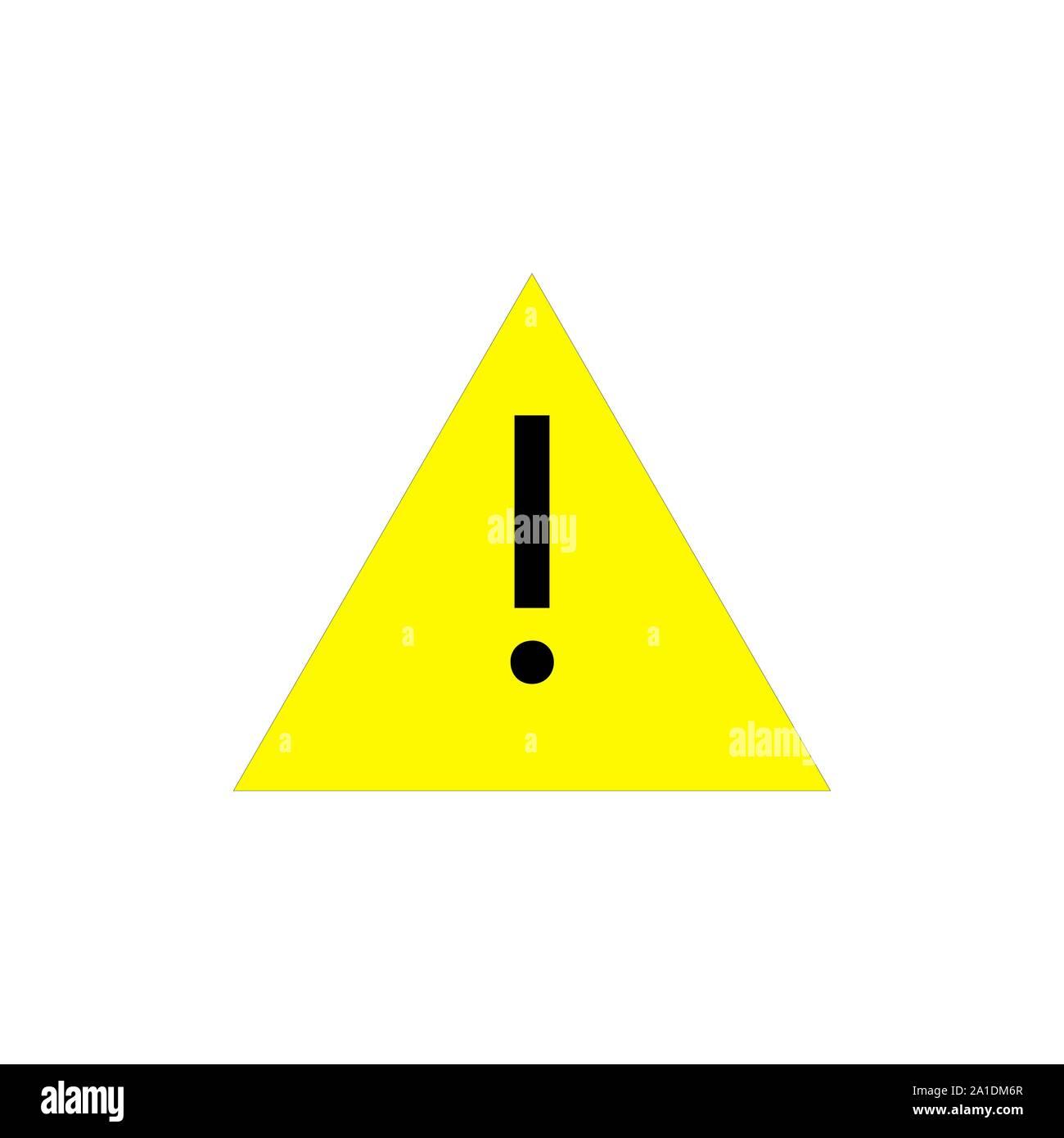 https www alamyimages fr attention pictogramme triangle jaune avec un point d exclamation icone d alerte vector illustration isole sur fond blanc image327912895 html