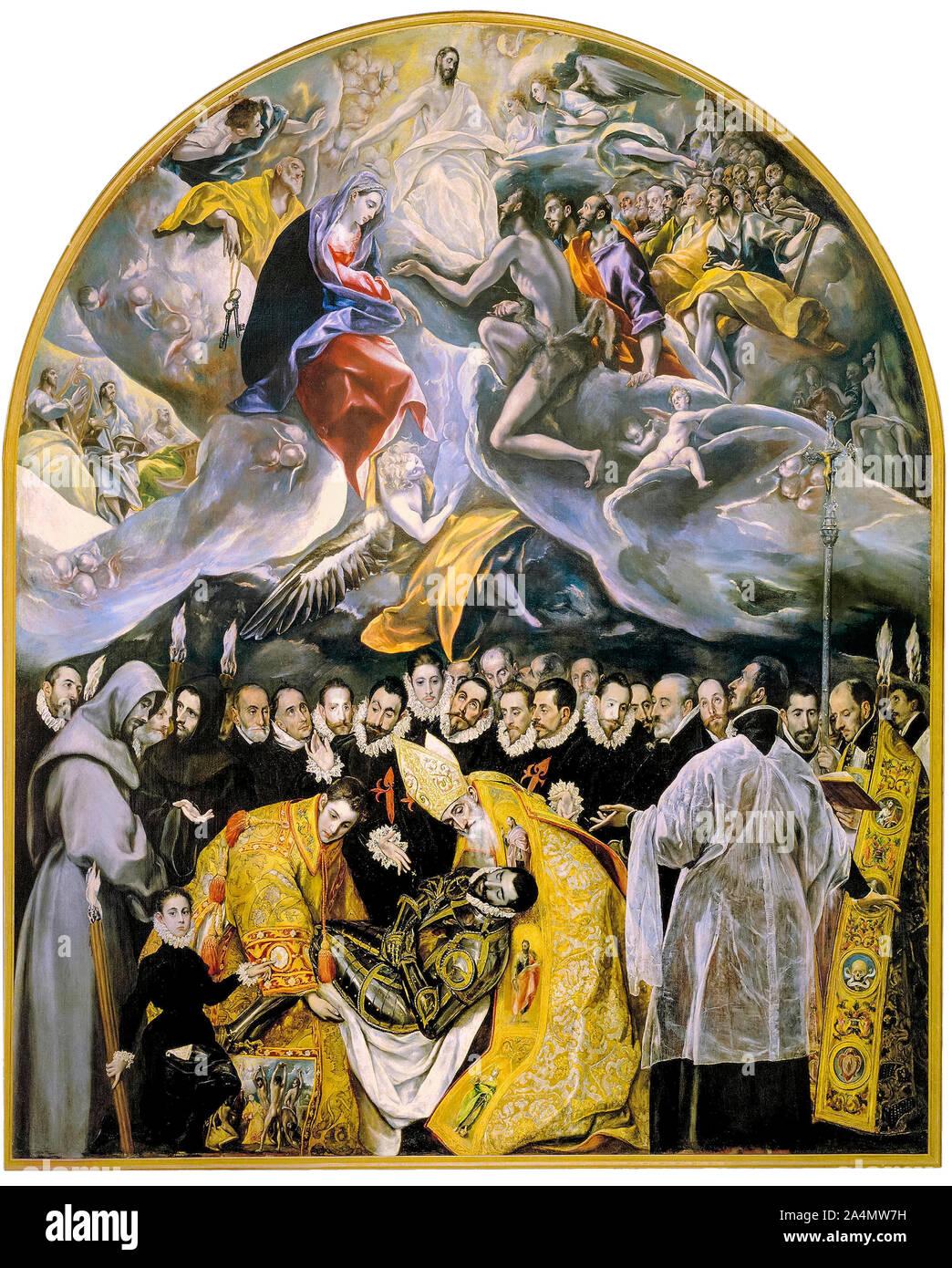 Enterrement Du Comte D Orgaz : enterrement, comte, orgaz, Greco,, L'enterrement, Comte, D'Orgaz,, Peinture,, 1586-1588, Photo, Stock, Alamy
