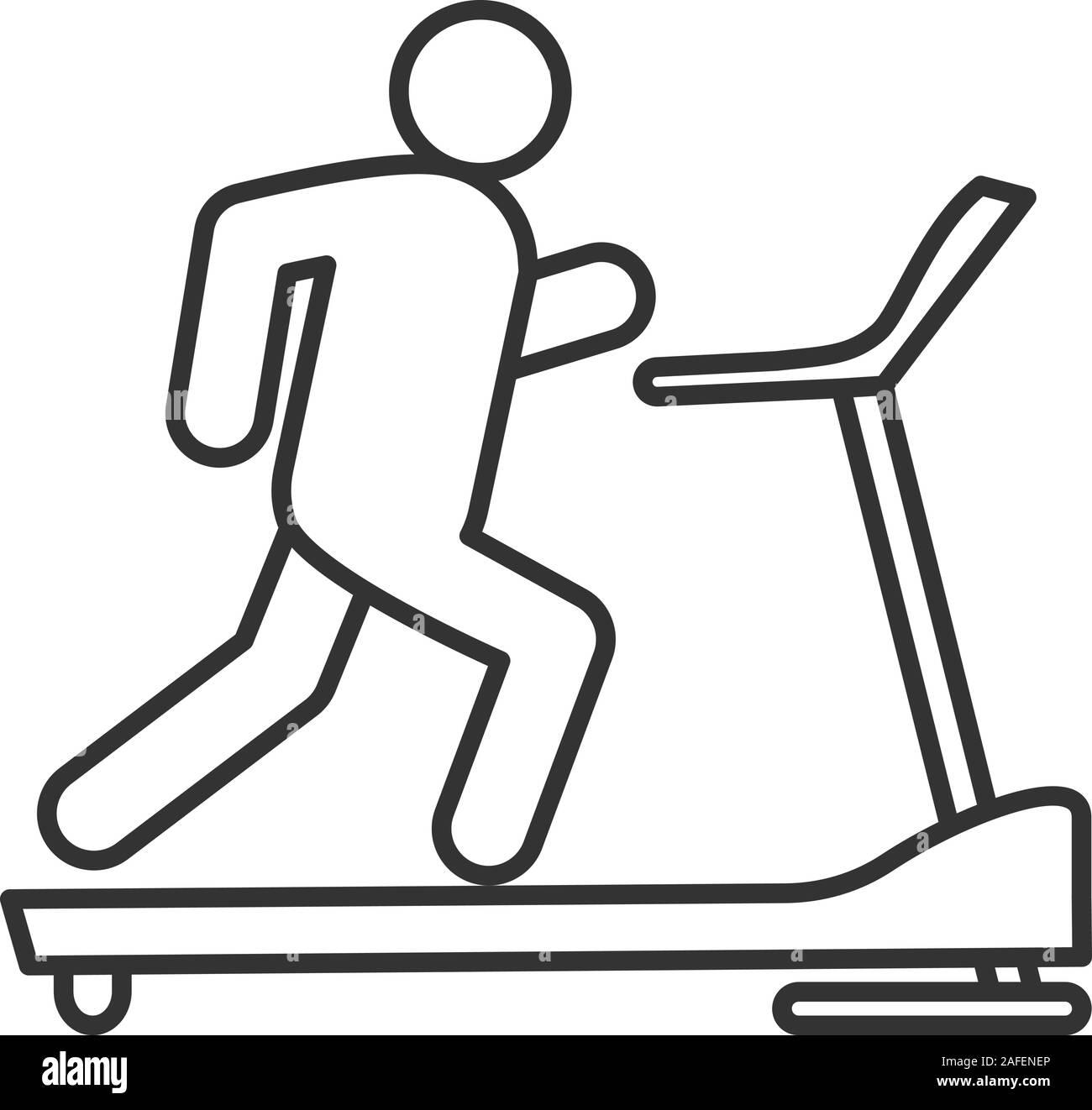 https www alamyimages fr icone lineaire de tapis roulant fine ligne illustration machine d exercice symbole de contour dessin vectoriel apercu isoles image336541038 html