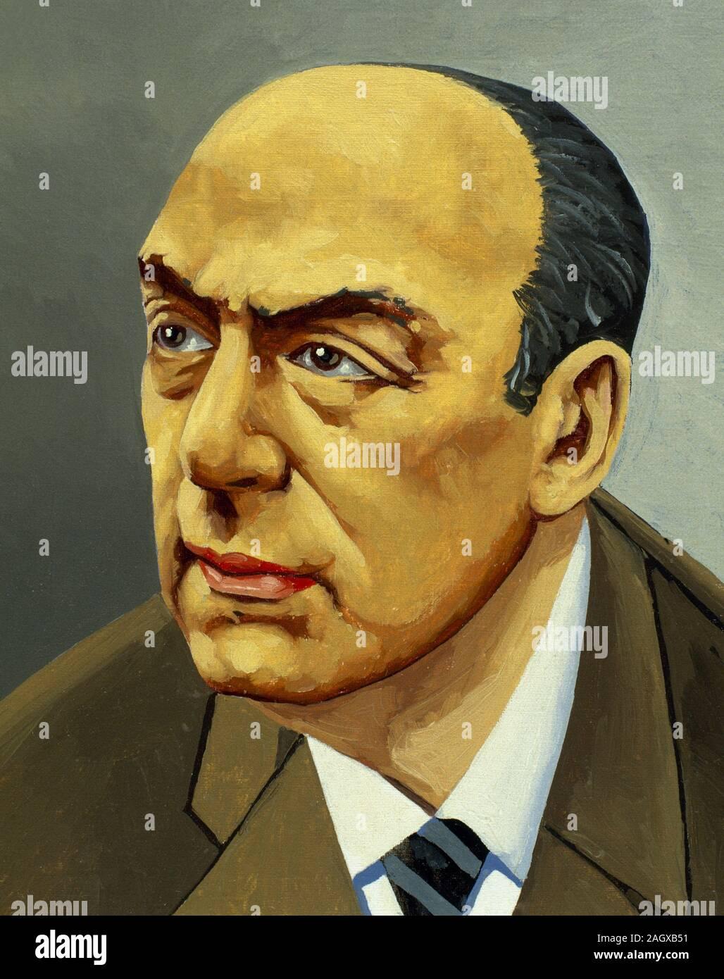 Nobel De Litterature En 1971 : nobel, litterature, Pablo, Neruda, Portrait, Banque, D'image, Photos, Alamy