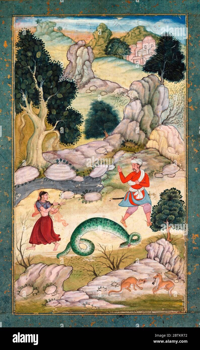 Livre Indien Sur Les Arts Amoureux : livre, indien, amoureux, Amoureux, Repartiant,, Livre, Fables,, 1590-95,, L'art, Indien, Sud-est, Asiatique, Photo, Stock, Alamy