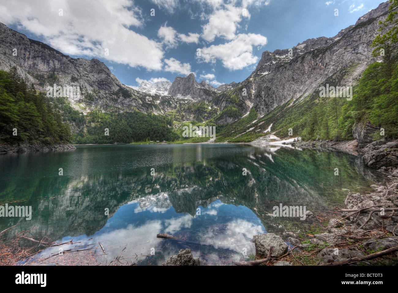 ferienwohnungen hillbrand lac gosausee dachstein dachsteingebirge montagnes region du salzkammergut haute photo