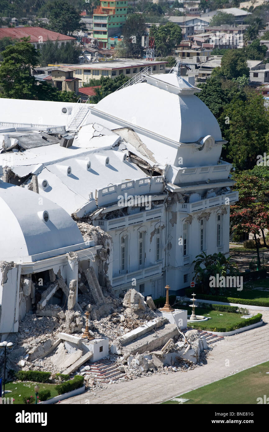 Tremblement De Terre Haiti 2010 : tremblement, terre, haiti, Dommages, Palais, Présidentiel, Après, Tremblement, Terre, Janvier, 2010,, Port-au-Prince,, Haïti,, Caraïbes, Photo, Stock, Alamy