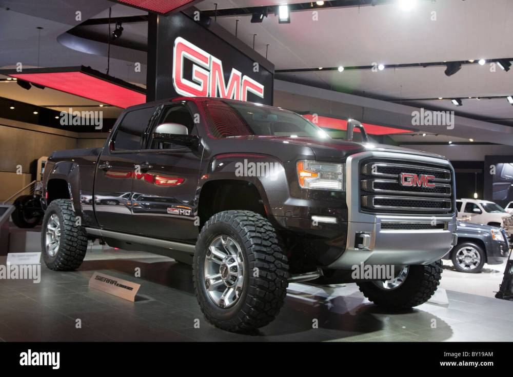 medium resolution of detroit michigan la gmc sierra hd toutes concept terrain camionnette sur l affichage la north american international auto show