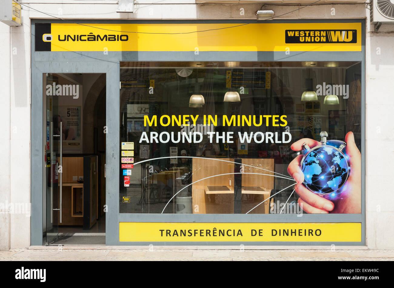 western union transfert d argent office bureau de lisbonne lisboa au portugal