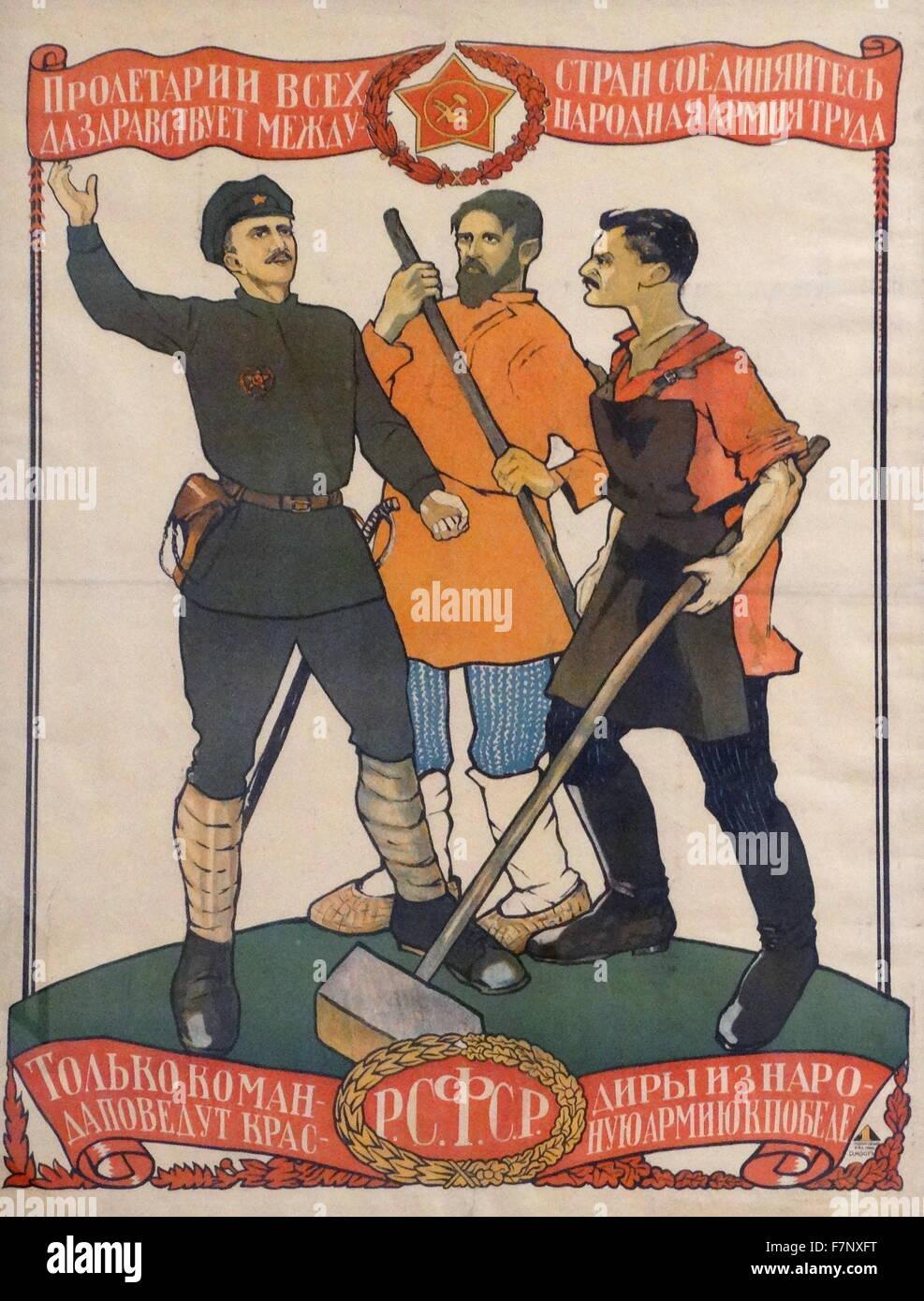 Prolétaire De Tous Les Pays Unissez Vous : prolétaire, unissez, Russe,, Soviet,, Affiches, Propagande, Communiste,,