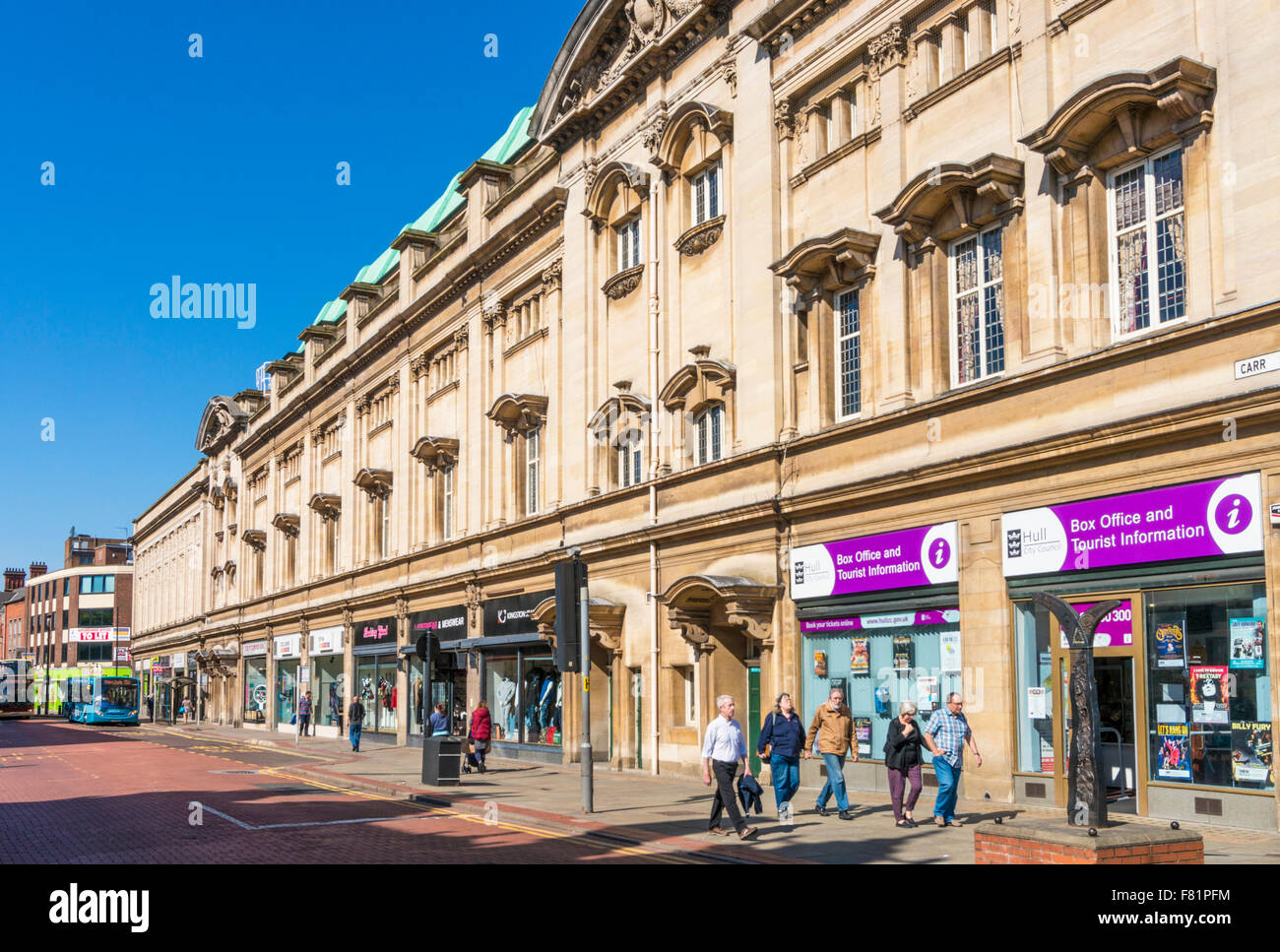hull city hall box office et informations touristiques sur carr lane kingston upon hull yorkshire angleterre uk gb eu europe