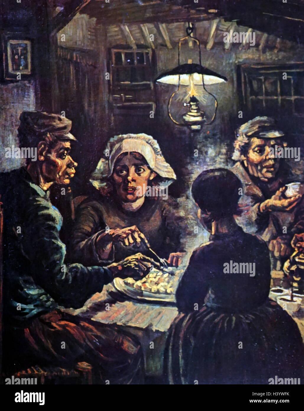 Les Mangeurs De Pommes De Terre : mangeurs, pommes, terre, Peinture, Intitulée, Mangeurs, Pommes, Terre', Vincent, (1853-1890), Peintre, Postimpressionniste, Néerlandais., Siècle, Photo, Stock, Alamy