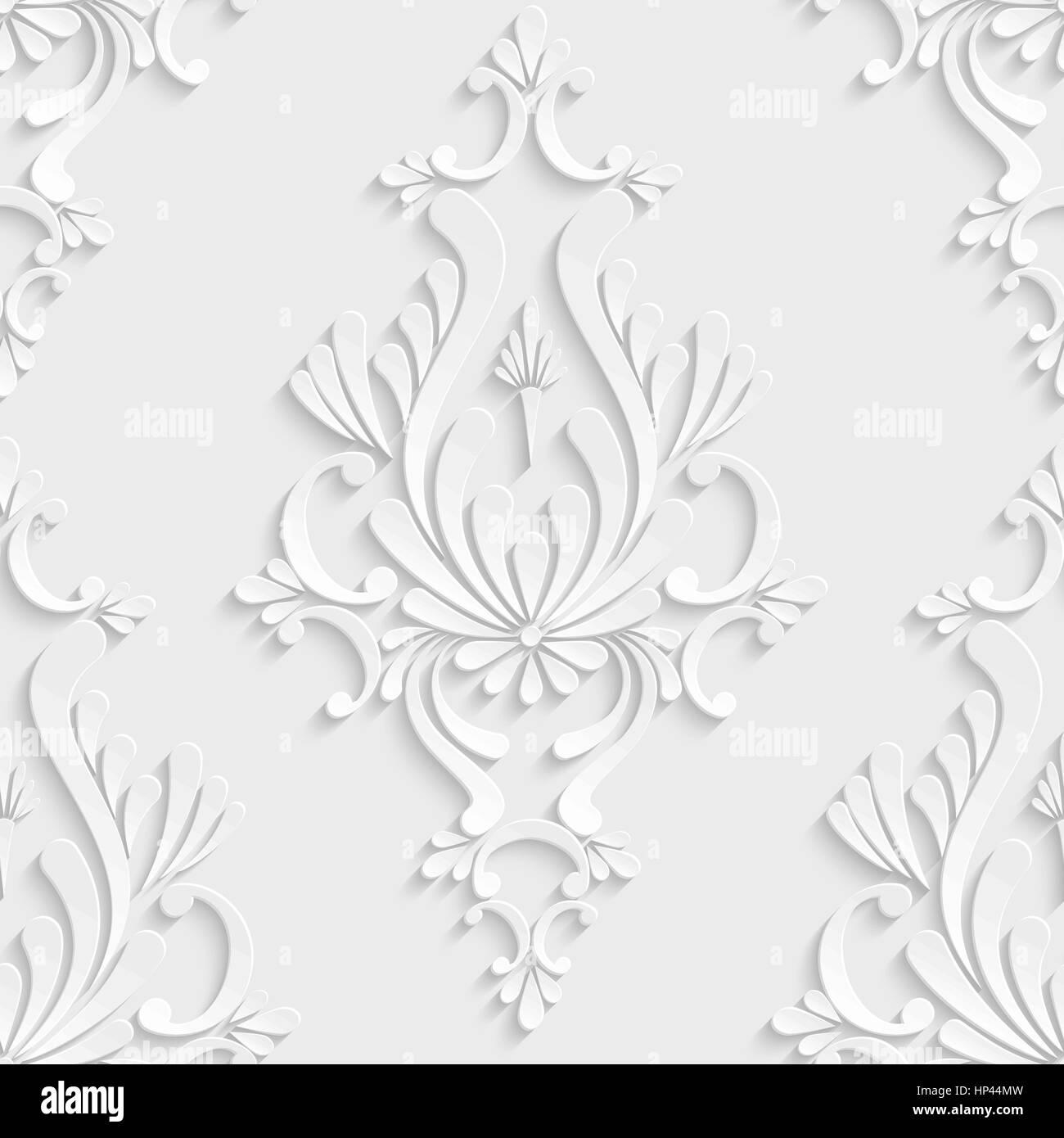 https www alamyimages fr photo image damasse floral vecteur 3d de fond transparent decoration pour carte d invitation ou de papier peint 134086537 html