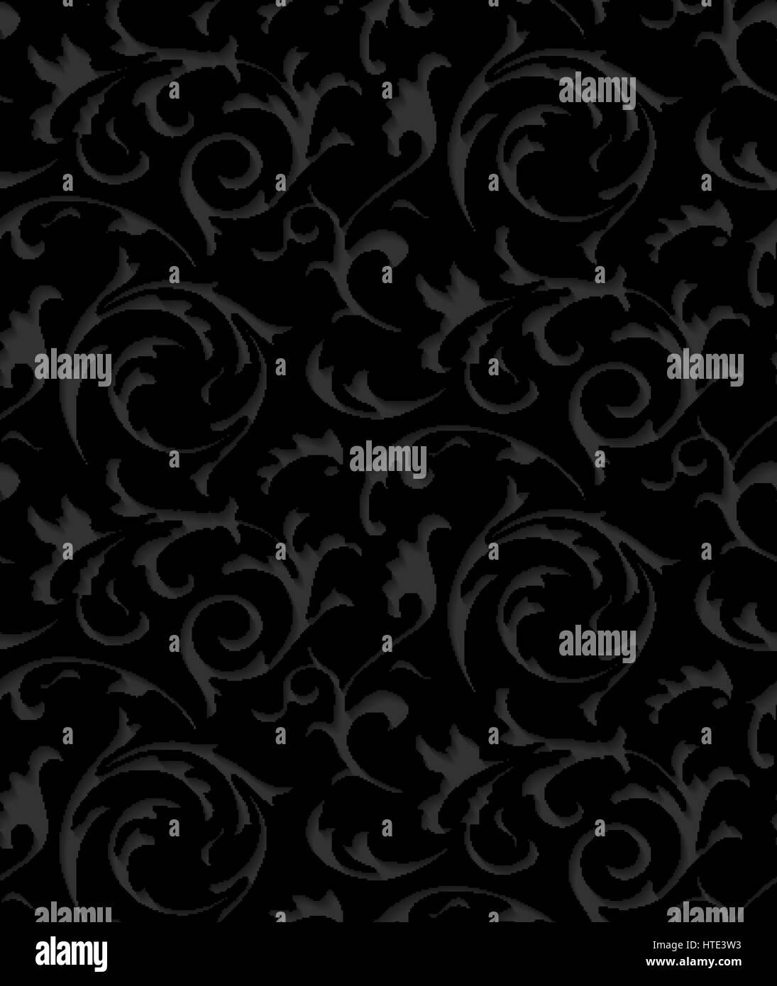 https www alamyimages fr photo image baroque vector noir damasse dentelle elegante texture floral luxe element motif fonce pour l emballage de papier tissu papier peint remplir la page arriere plan pap 135534703 html