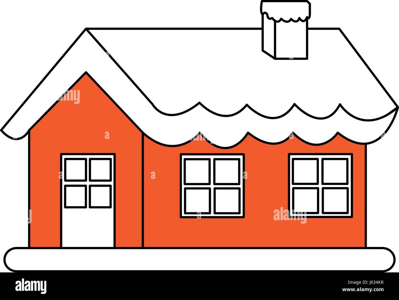 https www alamyimages fr photo image la silhouette d une image couleur de la chambre de noel dessin anime avec de la neige et cheminee 141440427 html