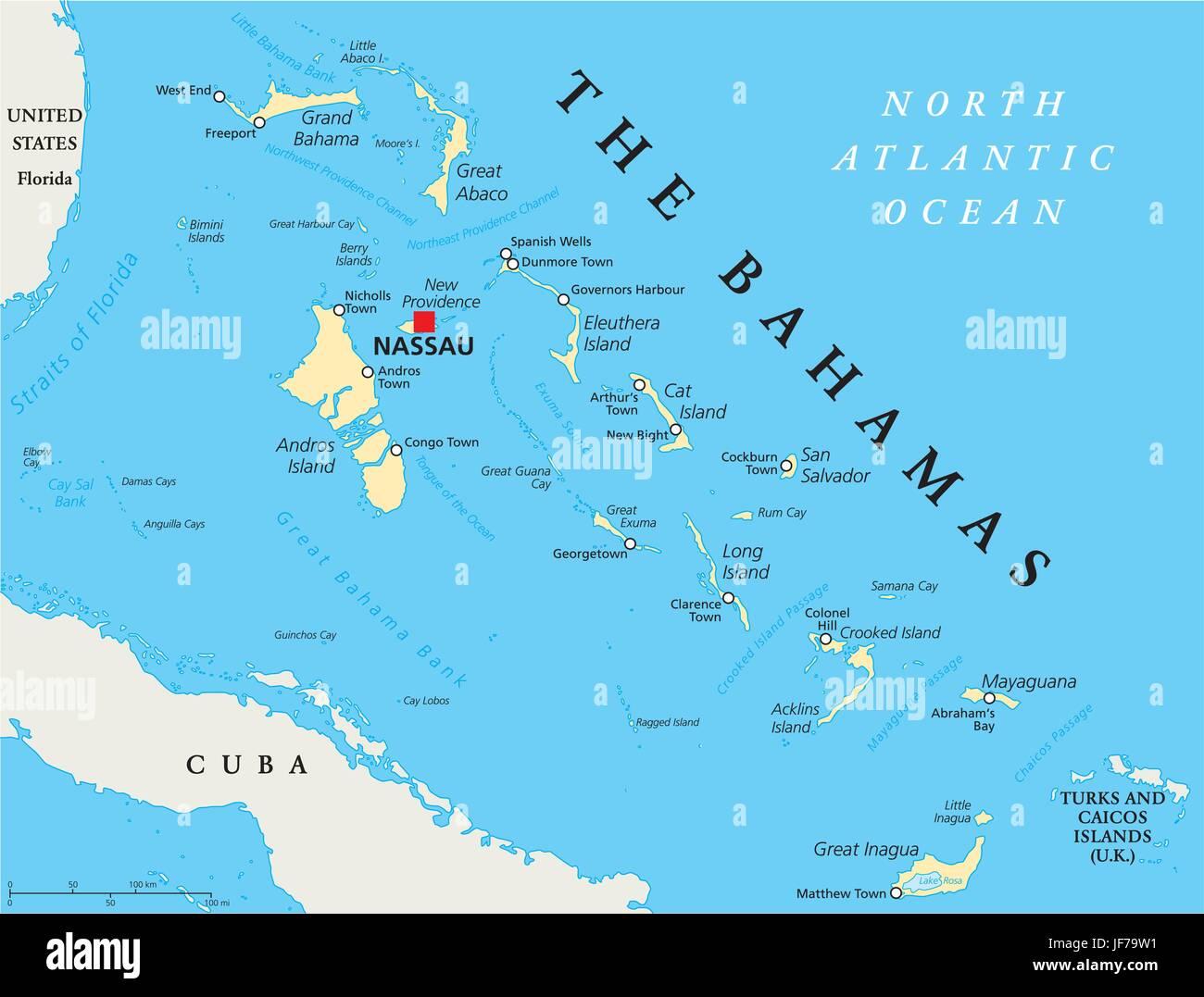 Les Bahamas Carte Du Monde Vacances