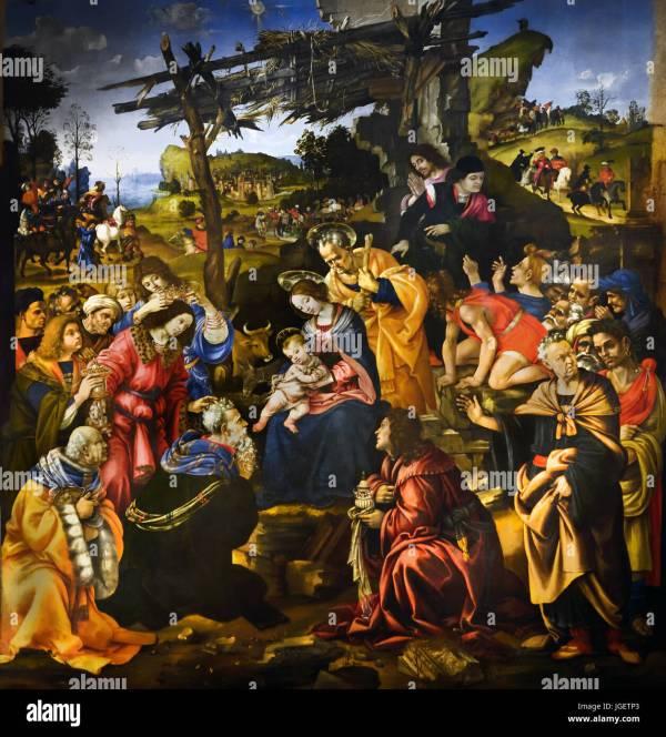 Art Painting Museum Fra Filippo Lippi Adoration