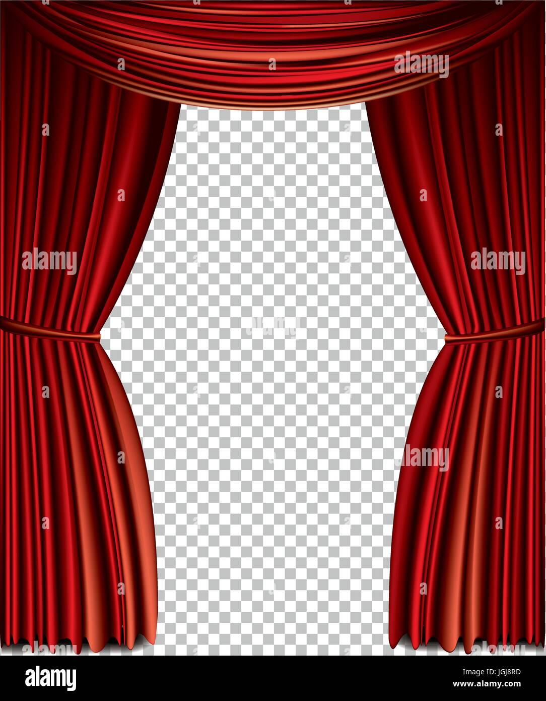 https www alamyimages fr photo image rideau rouge vecteur complet isole sur un fond transparent 147919505 html