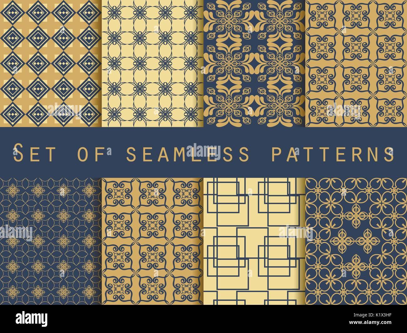 https www alamyimages fr ensemble de modeles sans couture motifs geometriques le motif pour le papier peint carrelage tissus et modeles vecteur image156081563 html
