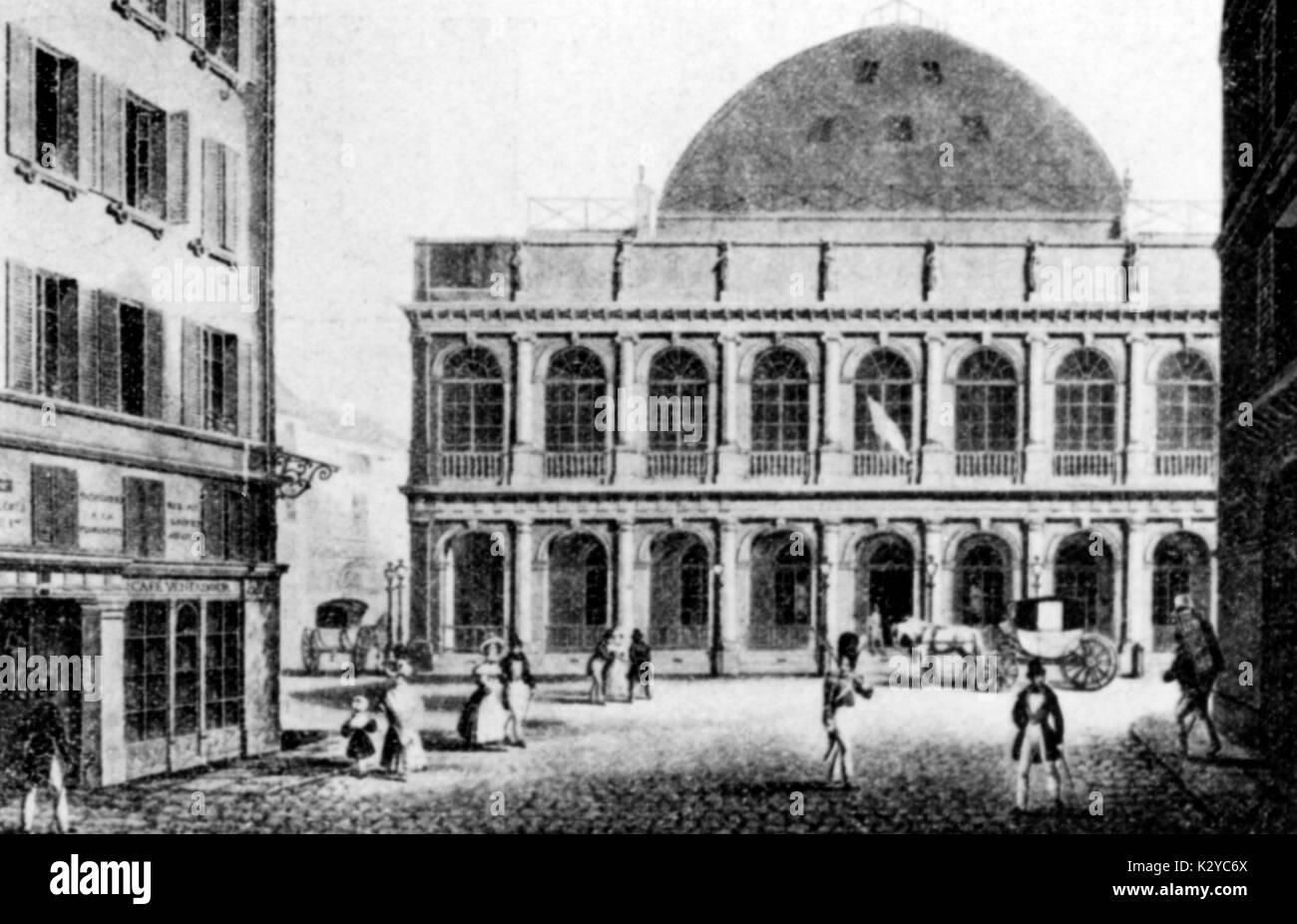 https www alamyimages fr paris theatre a l italienne salle ventadour c 1830s image156724930 html