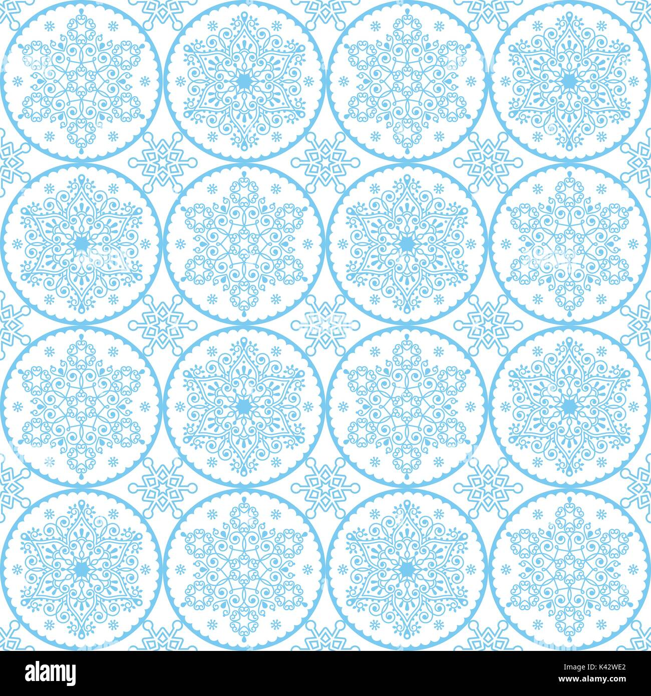 https www alamyimages fr vecteur de noel motif art populaire blue snowflakes conception sans couture fond d ecran de noel de style scandinave du papier d emballage ou du textile image157415834 html