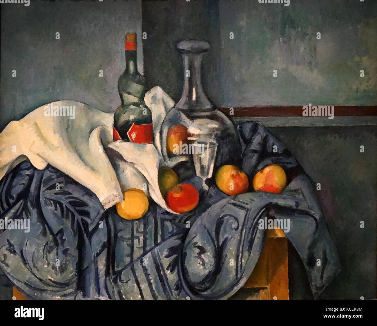 https www alamyimages fr photo image la peinture intitulee la bouteille de menthe poivree par paul cezanne 1839 1906 un peintre postimpressionniste francais en date du 20e siecle 162591680 html