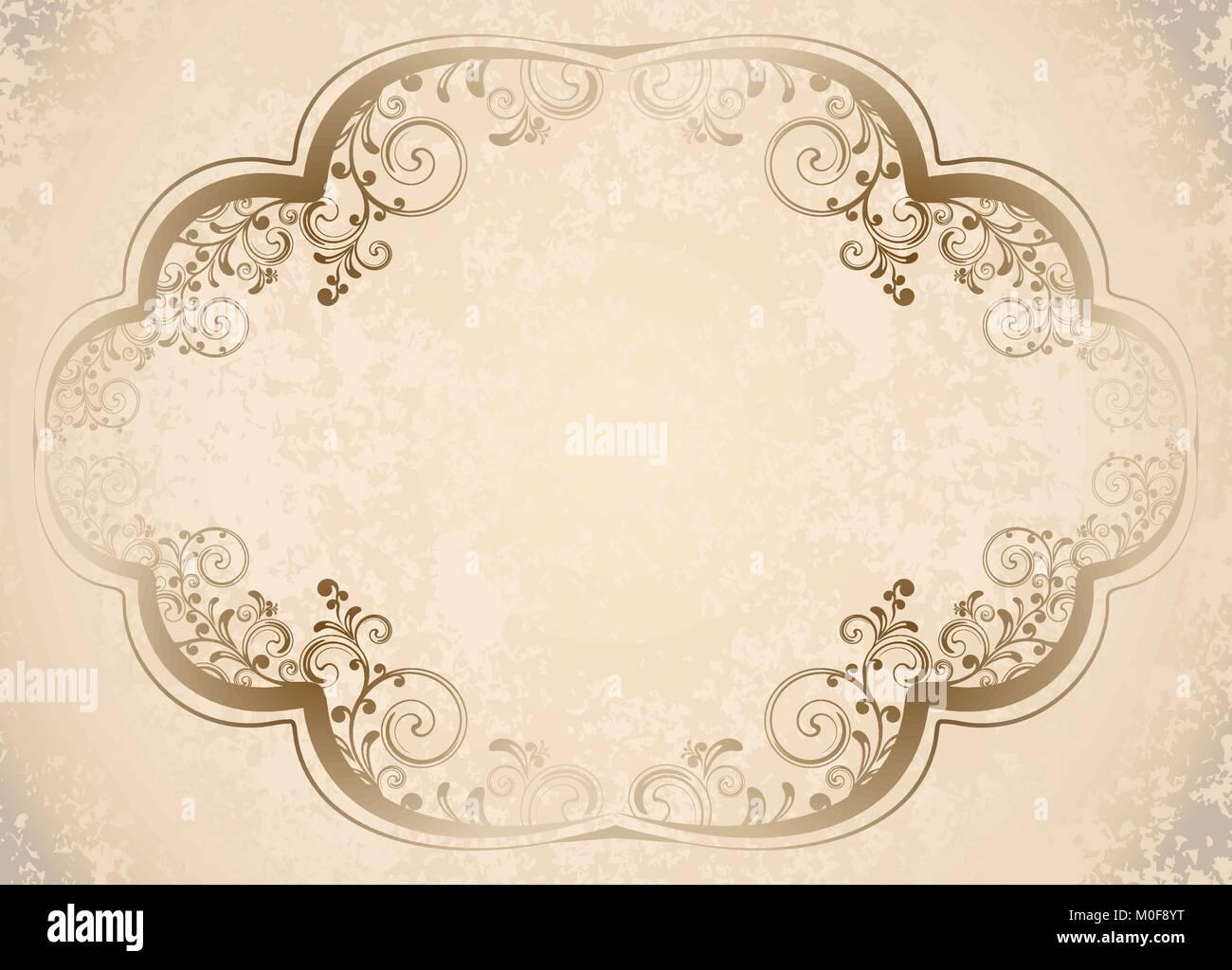 https www alamyimages fr photo image ancien cadre sur de papier retro vintage carte de voeux invitation ou gabarit pour les notes 172440012 html