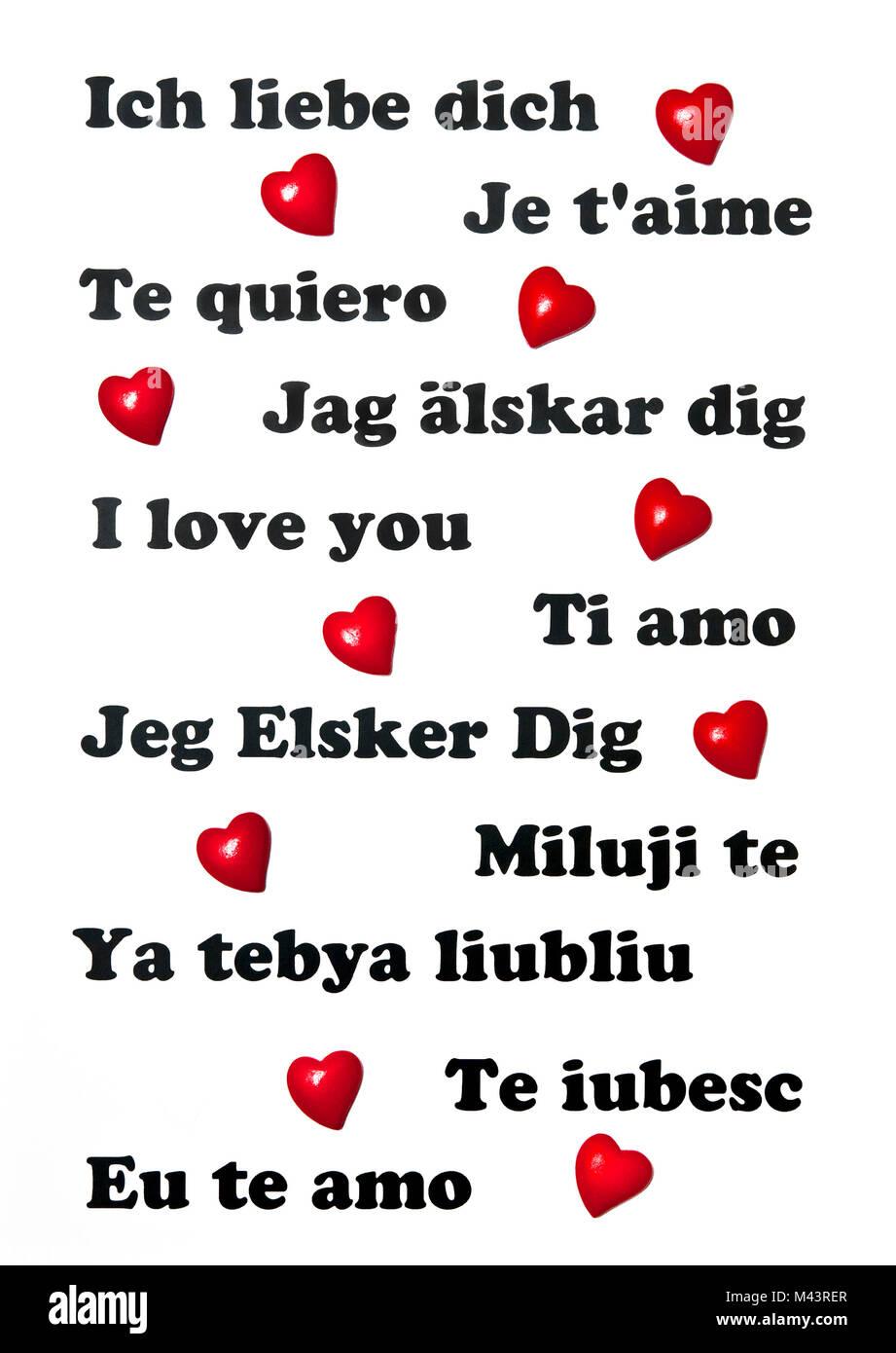 Je T Aime En Plusieur Langue : plusieur, langue, T'aime, Différentes, Langues, L'échelle, Mondiale, Photo, Stock, Alamy