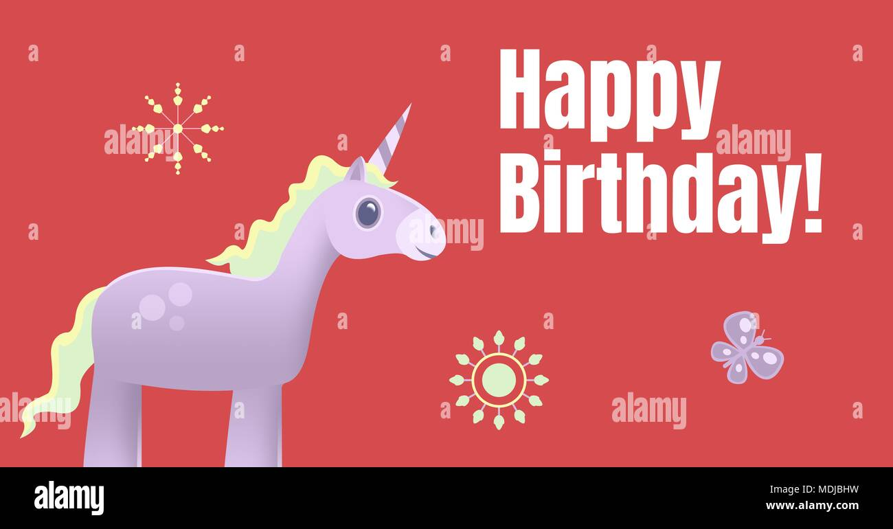 https www alamyimages fr joyeux anniversaire licorne illustration image180498469 html