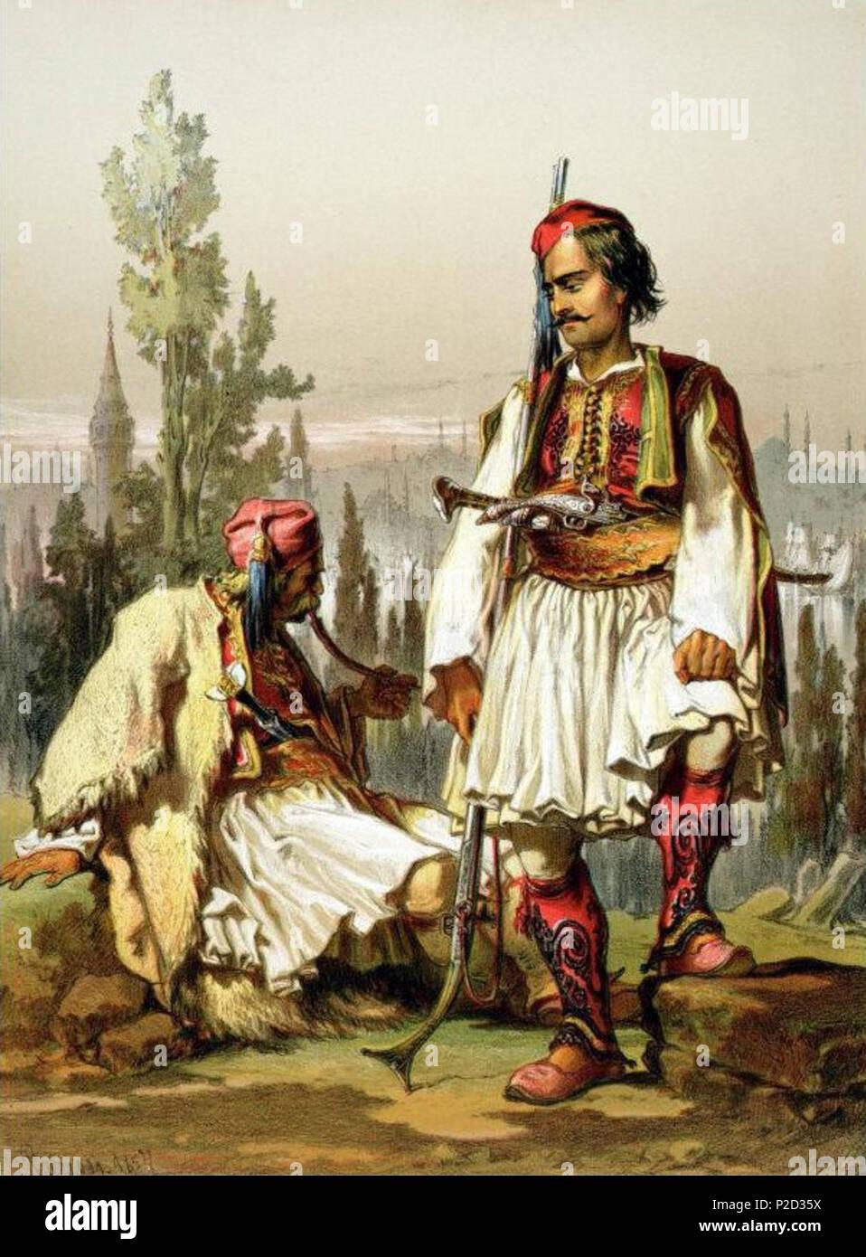 https www alamyimages fr anglais peinture de 19e siecle mercenaires albanais dans l armee ottomane 19e siecle amadeo preziosi duree de vie 19e siecle 4 amadeo preziosi albanais de mercenaires dans l armee ottomane image208041622 html