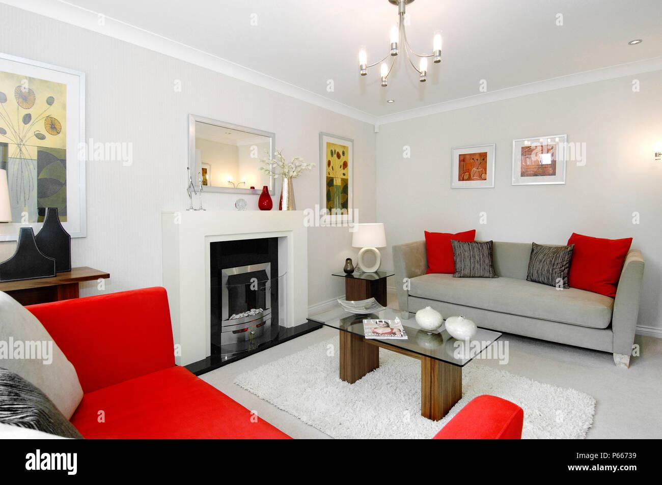 Captivant Salon Moderne De Luxe Dans Le Neuf House Banque D Images Photo