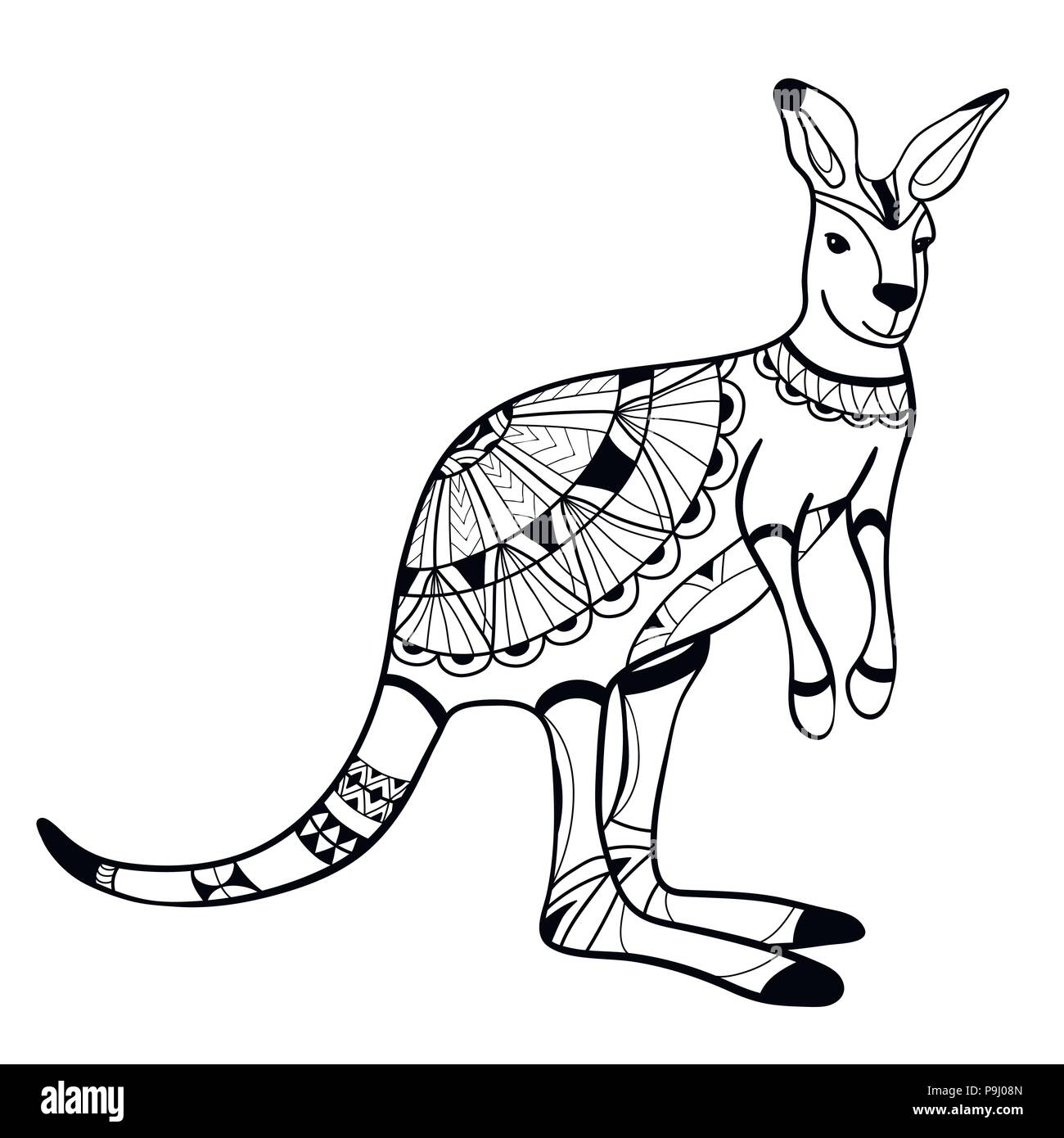 Coloriage Dun Kangourou