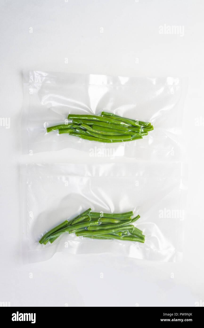 Congeler Haricots Verts Frais : congeler, haricots, verts, frais, Haricots, Verts, Frais, Scellés, Photo, Stock, Alamy