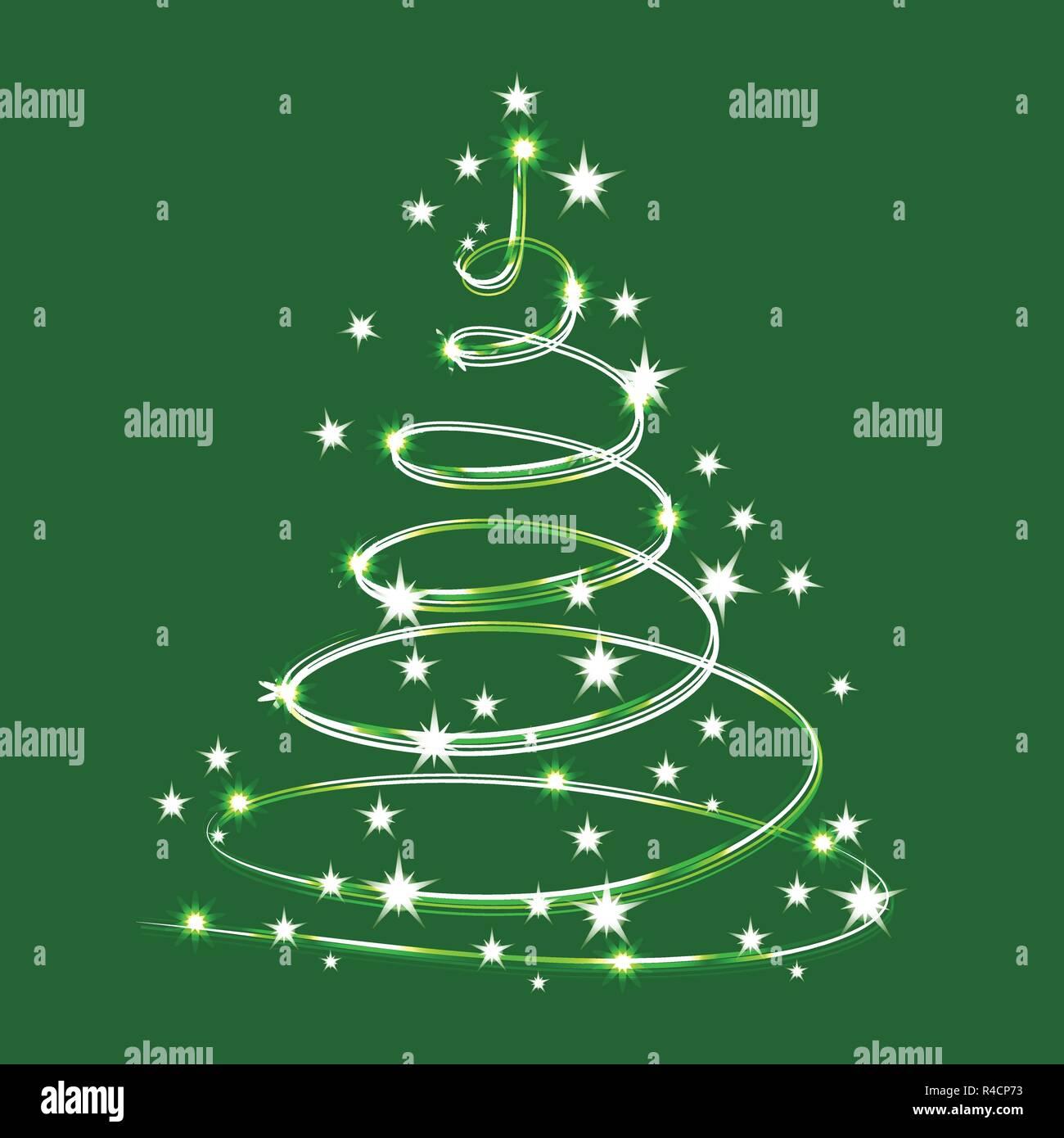 https www alamyimages fr arbre de noel de l eclat brillant d etoiles arbre genealogique sparkle vecteur isole sur fond vert arbre de noel pour concevoir carte invitation imprimer image226474279 html